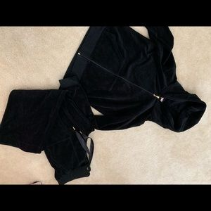 NWOT - black Juicy Couture velour tracksuit